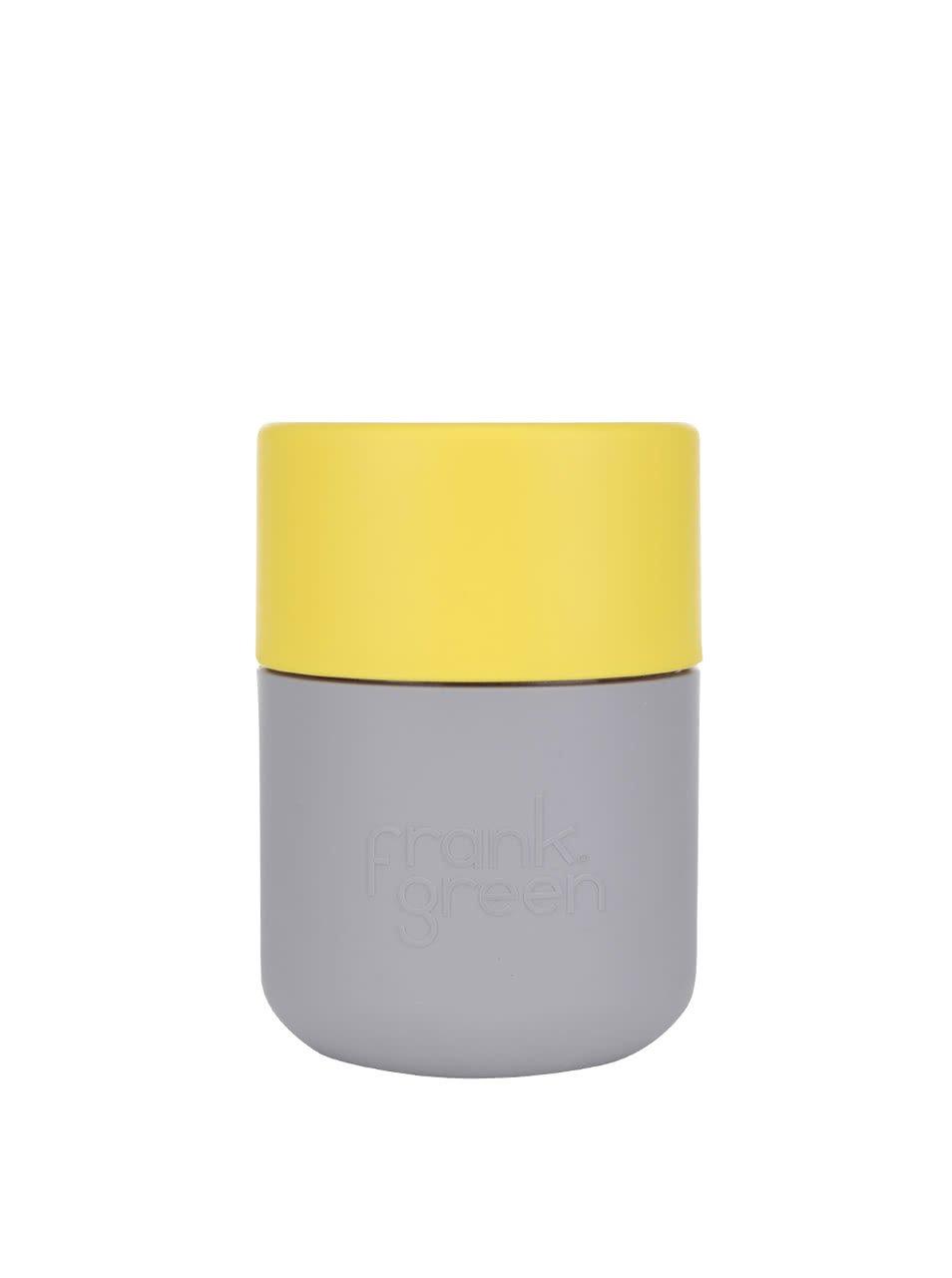 Šedý SmartCup s žlutým víčkem Frank Green 230 ml