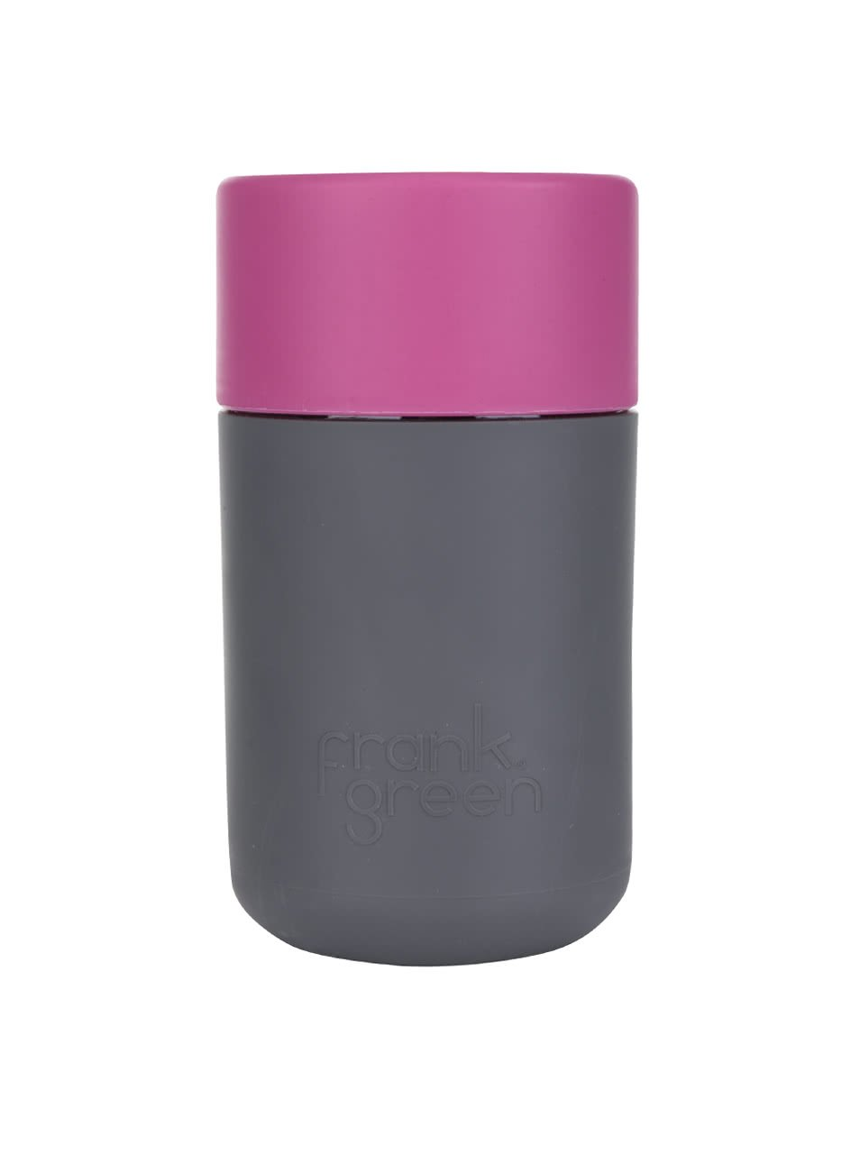 Tmavě šedý SmartCup s růžovým víčkem Frank Green 340 ml