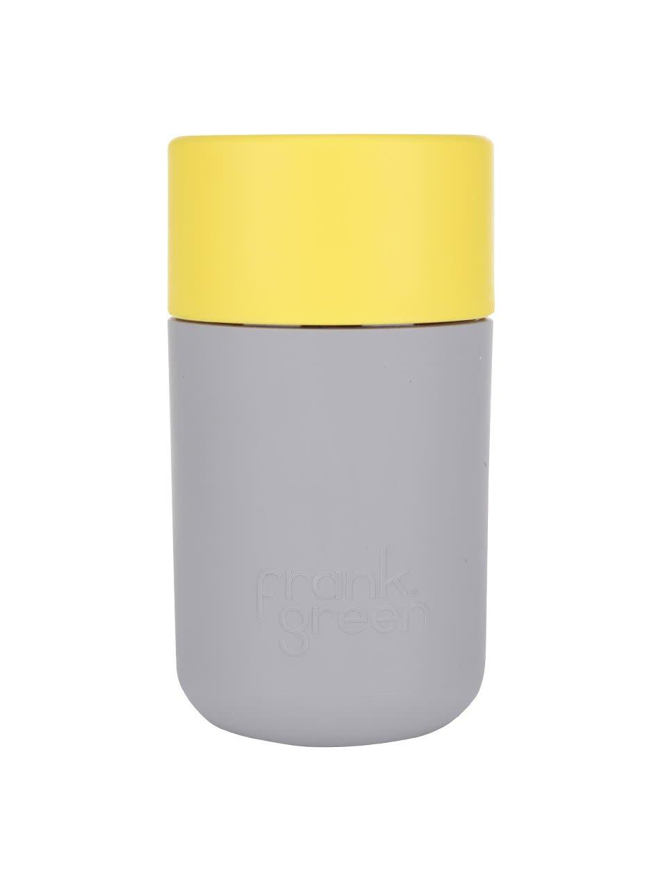 Šedý SmartCup s žlutým víčkem Frank Green 340 ml