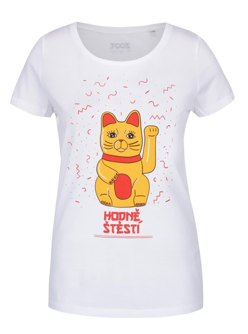 Bílé dámské tričko ZOOT Originál Hodně štěstí