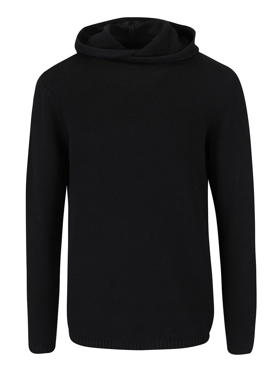 Černý pánský svetr s kapucí Pippin Broadway