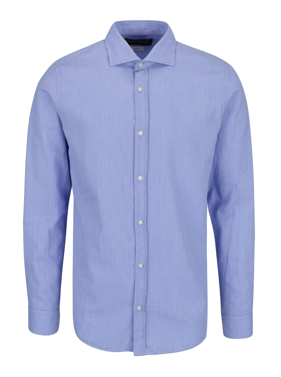 Modrá slim fit košile s jemným vzorem Jack & Jones Ethan
