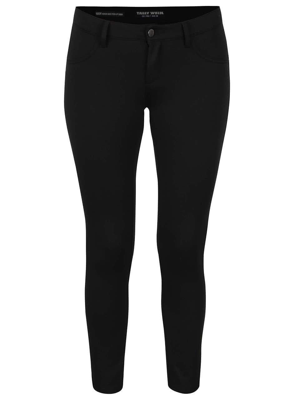 Černé elastické kalhoty TALLY WEiJL