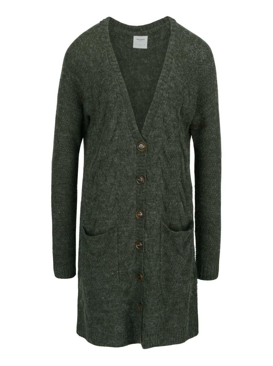 Khaki dlouhý cardigan s kapsami Vero Moda Joya LS
