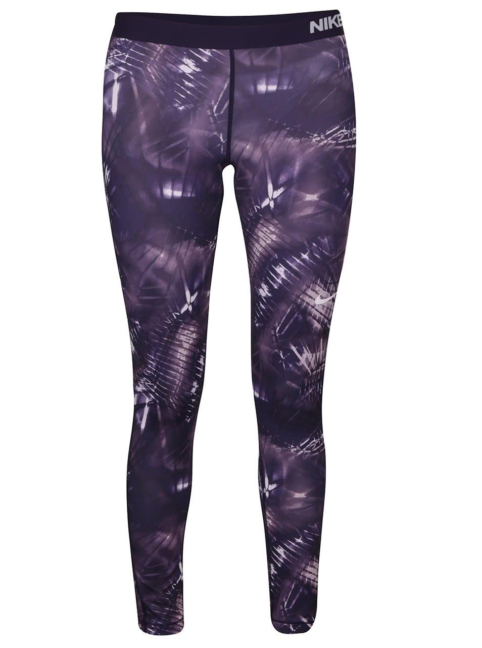 Fialové dámské legíny Nike Pro Warm Tight ŽENY   Kalhoty bef142dcbe