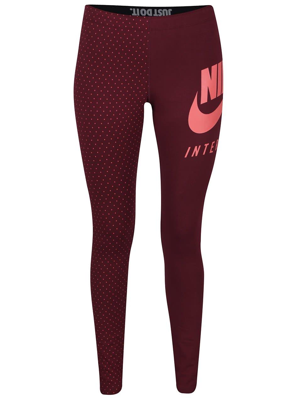 Vínové dámské legíny Nike International