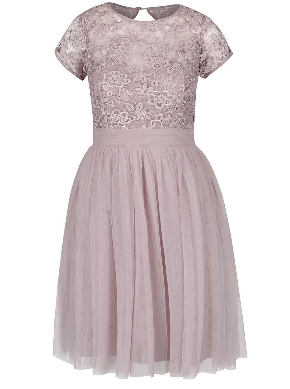 Starorůžové šaty s krajkovaným topem Little Mistress