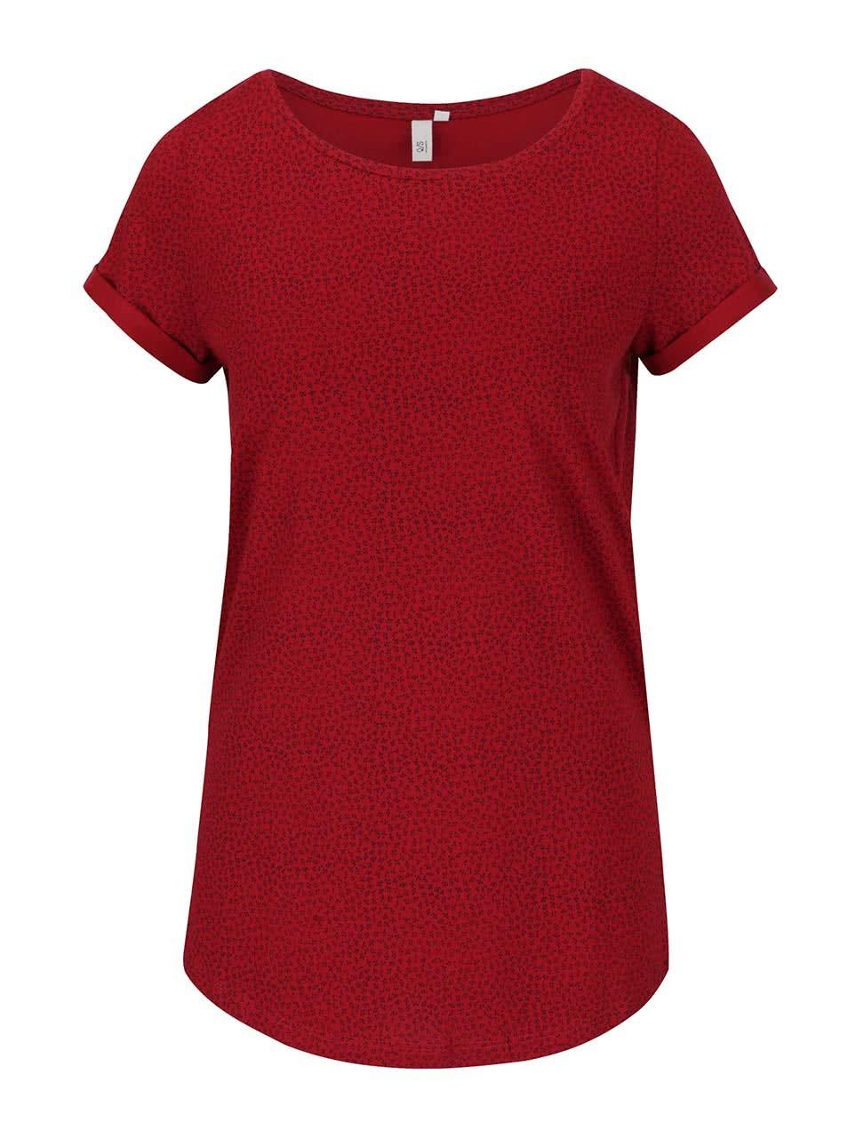 Červené dámské vzorované tričko s.Oliver