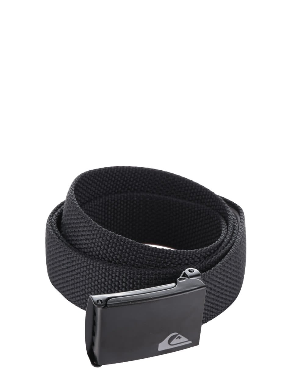 Černý pánský pásek s kovovou přeskou Quiksilver Principle