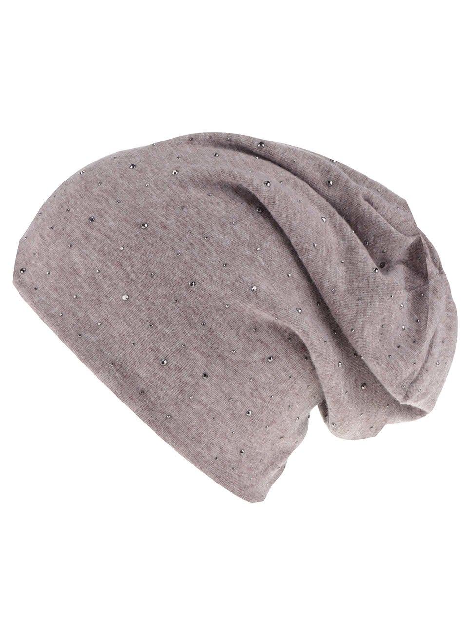 Béžová čepice Haily´s Mütze Strass