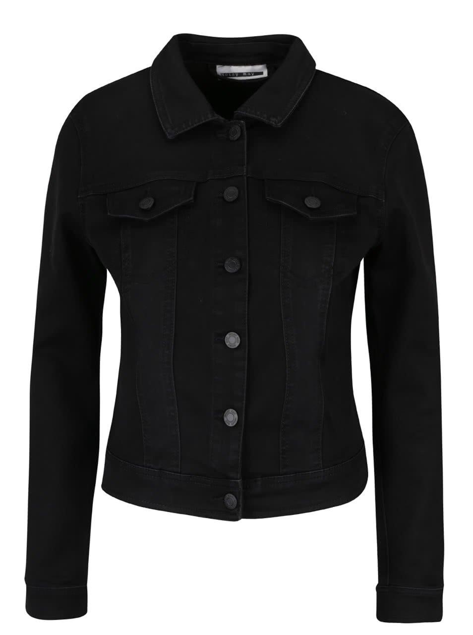 Černá džínová bunda Noisy May Sane