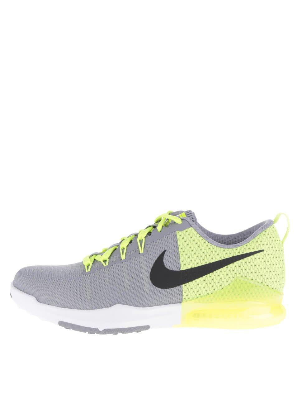 Zeleno-šedé perforované pánské tenisky Nike Train Action