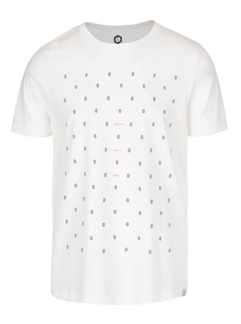 Krémové triko se vzorem Jack & Jones Stockholm