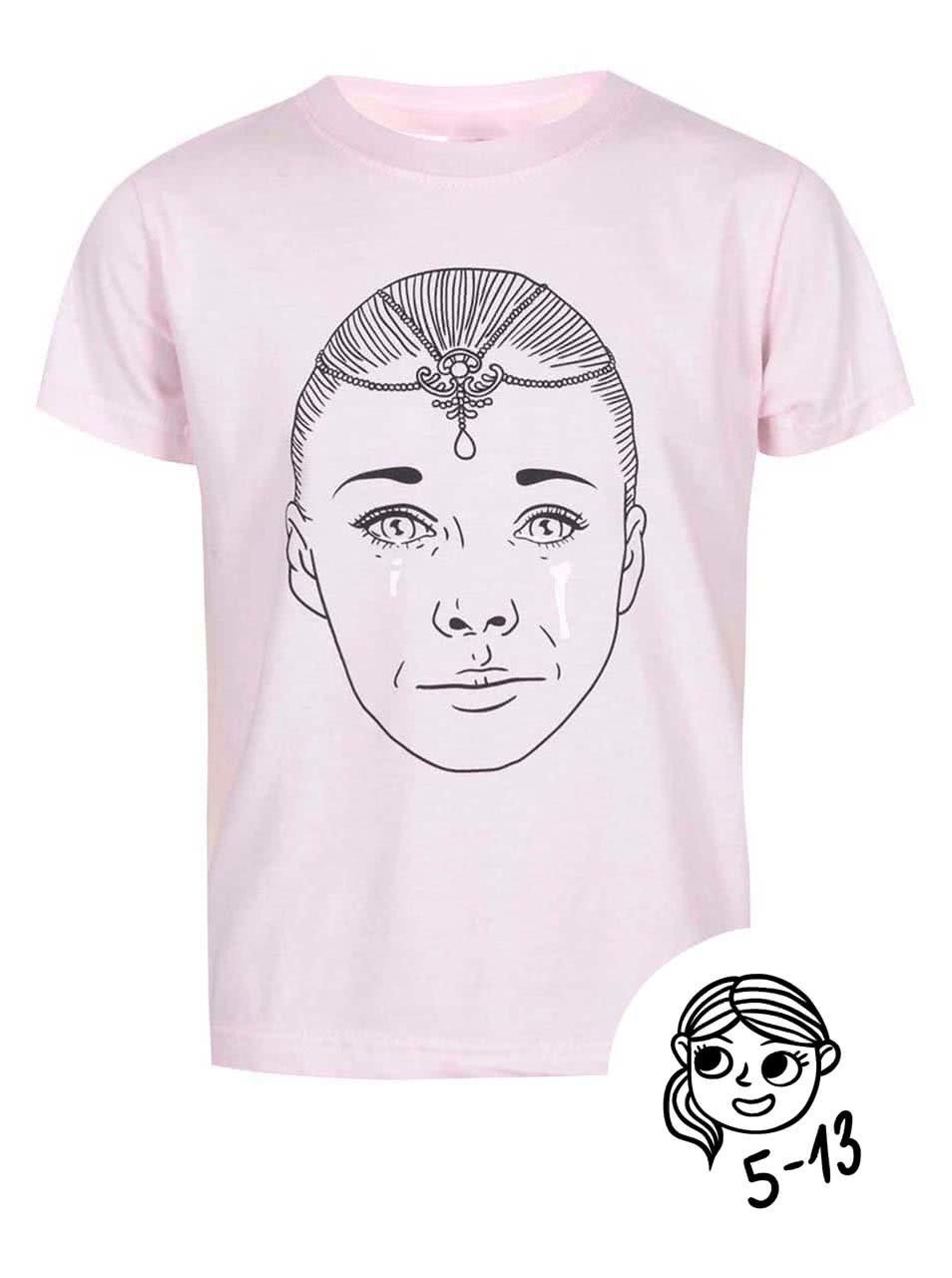 Fotografie Růžové holčičí tričko s potiskem ZOOT Kids Císařovna