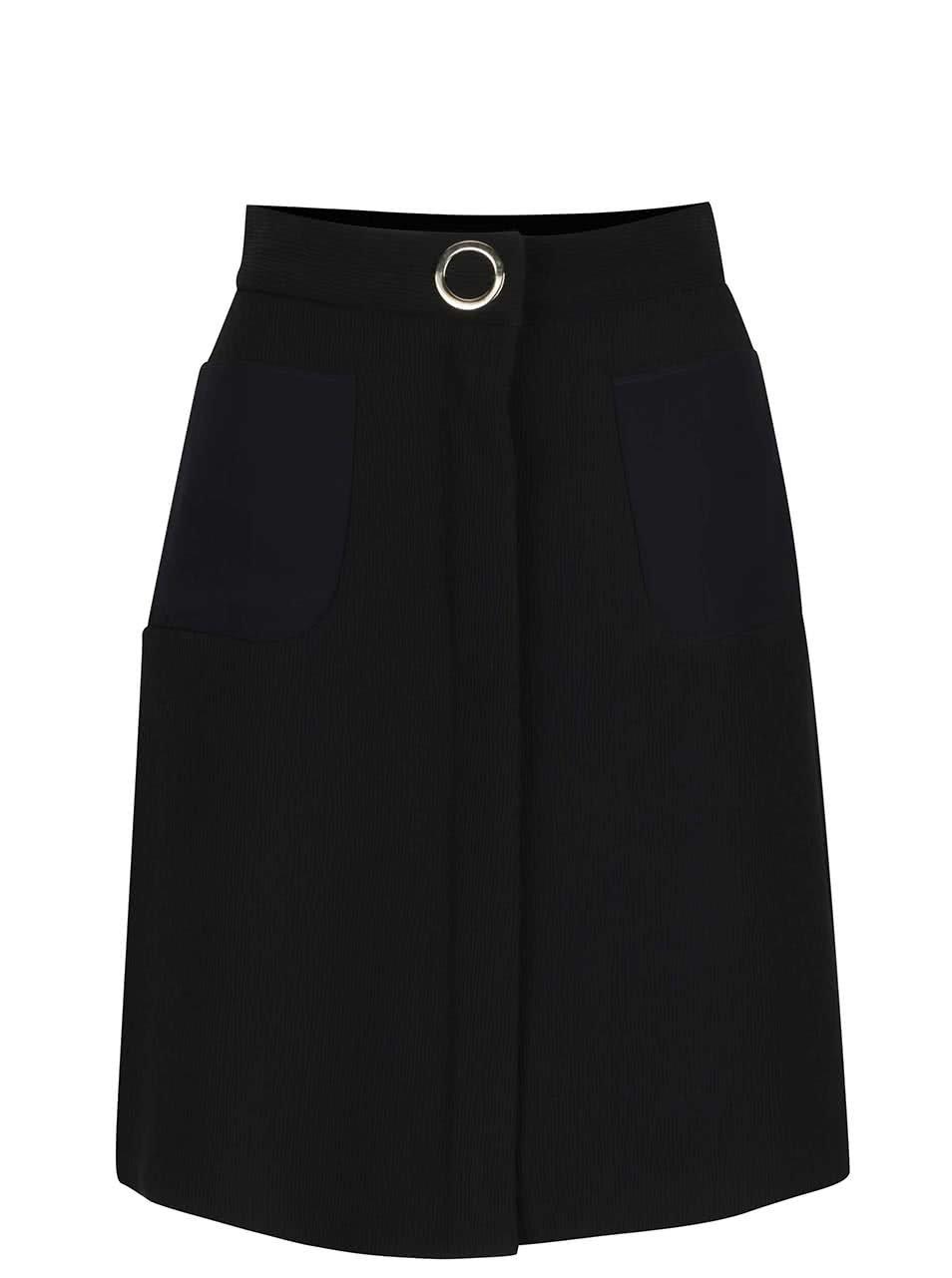 Černá sukně s kapsami a zipem Pietro Filipi