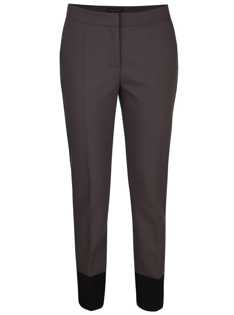 Šedé dámské kalhoty s puky Pietro Filipi