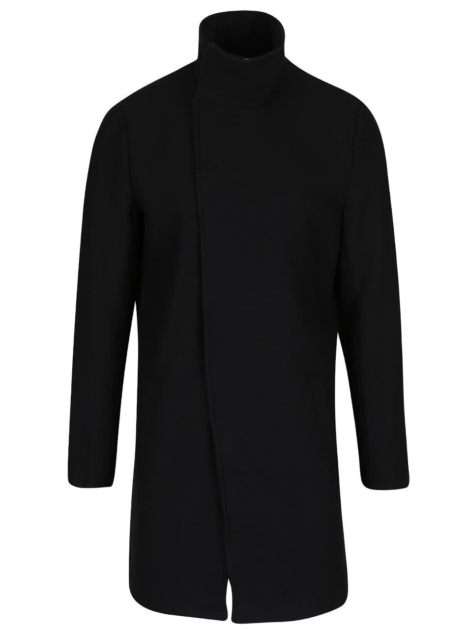 Černý vlněný kabát ONLY & SONS Oscar