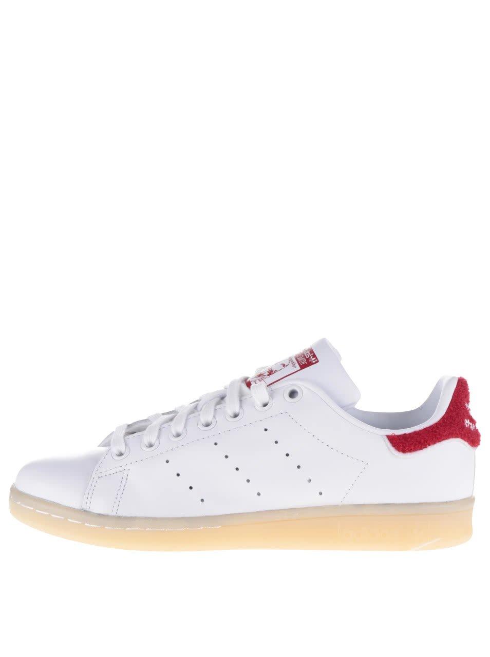 Červeno-bílé dámské tenisky adidas Originals Stan Smith