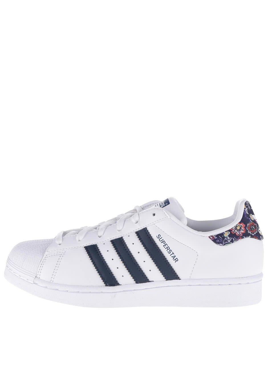 Bílé dámské tenisky s barevnou patou adidas Originals Superstar