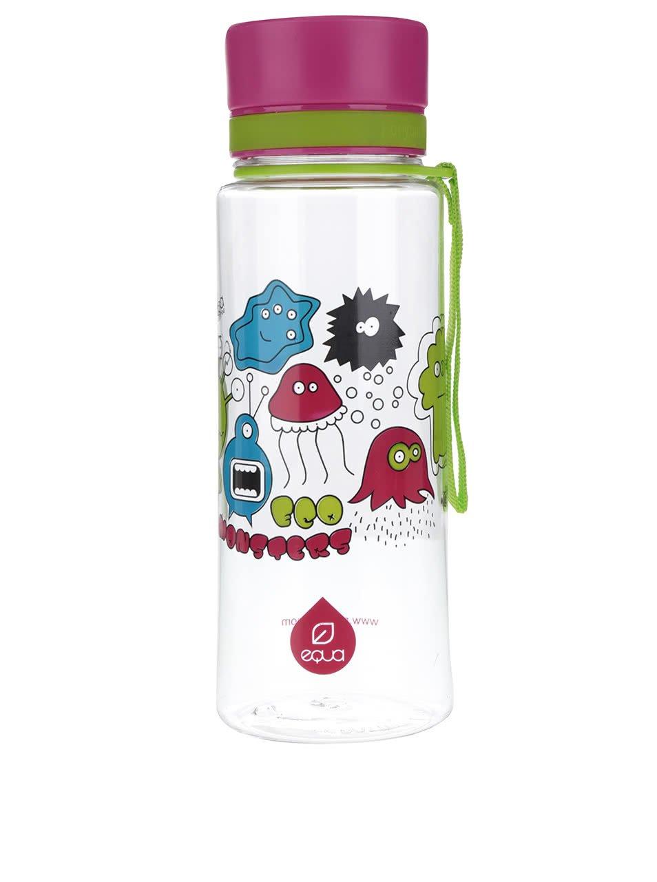 Plastová láhev s motivem příšerek EQUA (600 ml)