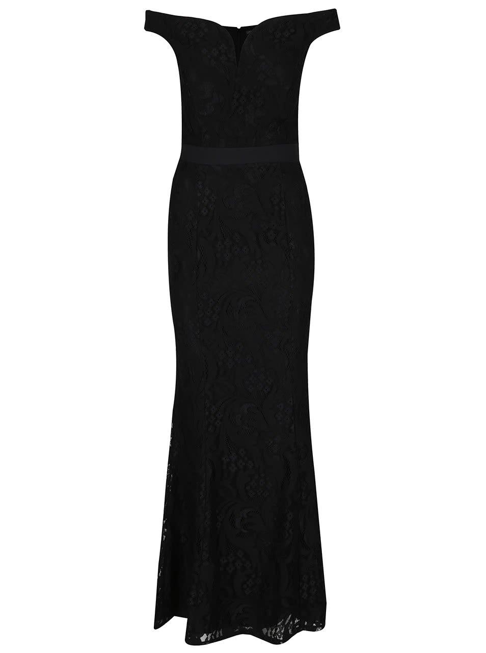 Černé dlouhé šaty Little Mistress