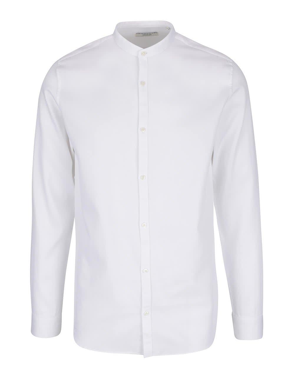 Bílá košile bez límečku Jack & Jones Toby