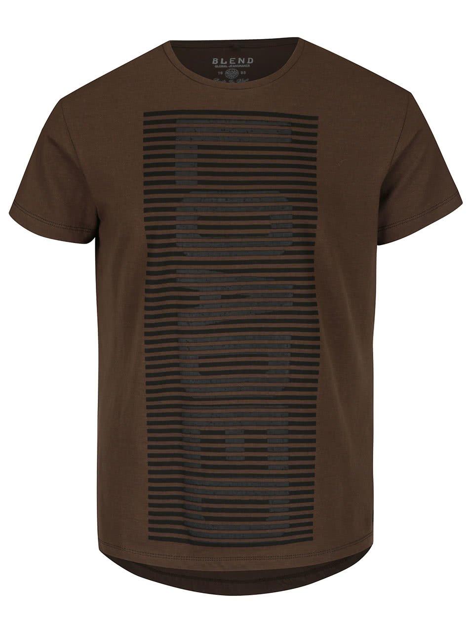 Tmavě zelené triko s krátkým rukávem Blend