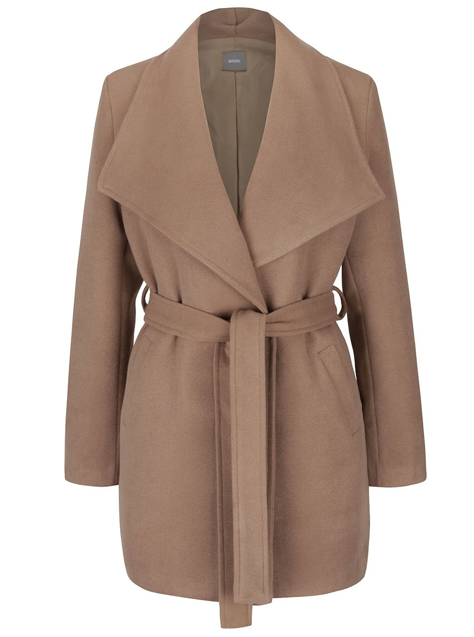 Béžový kabát se zavazováním v pase ZOOT