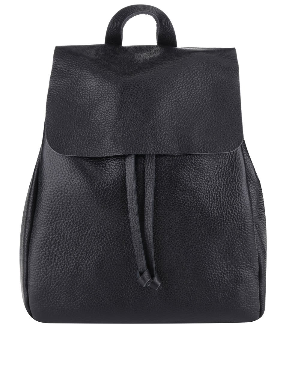 Černý kožený batoh ZOOT