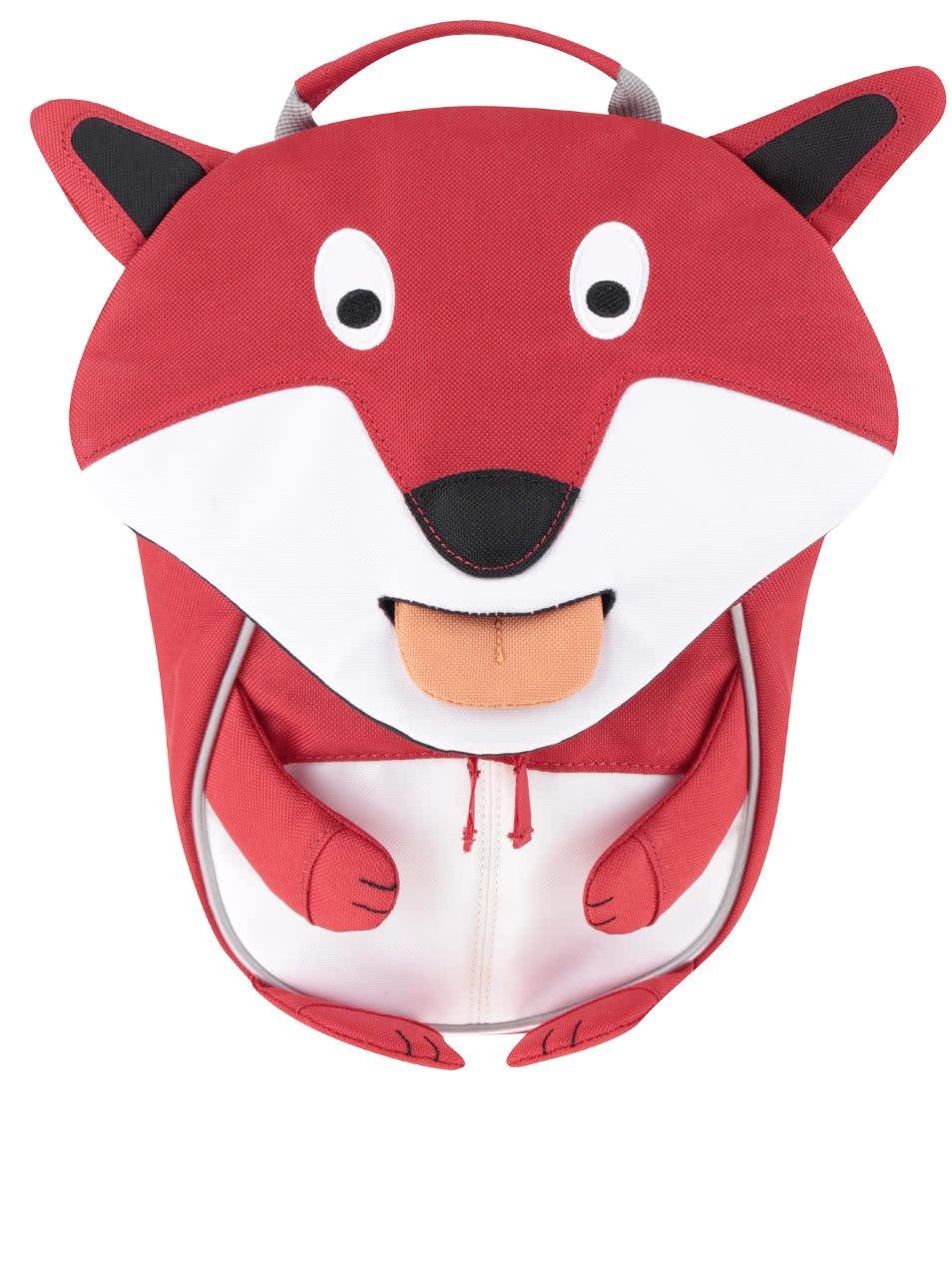 Červený batůžek ve tvaru lišky Affenzahn