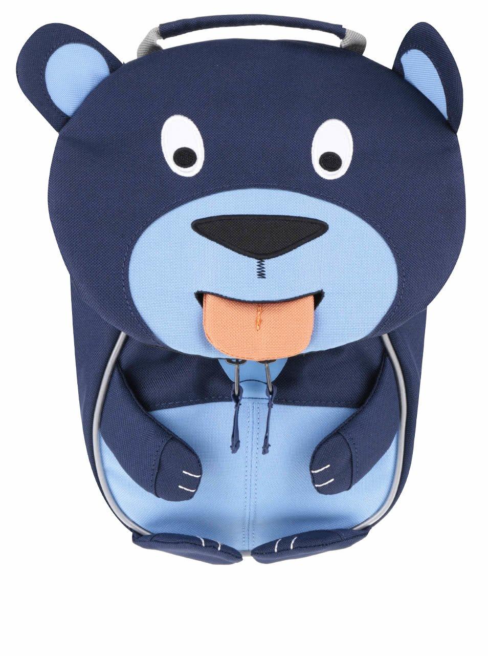 Tmavě modrý batůžek ve tvaru medvídka Affenzahn