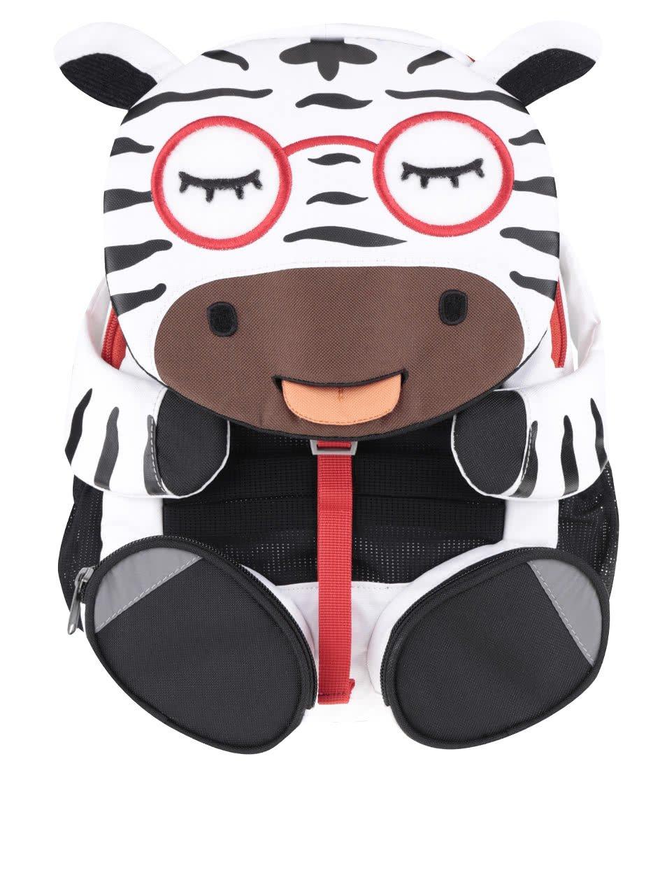 Černo-bílý batůžek ve tvaru zebry Affenzahn