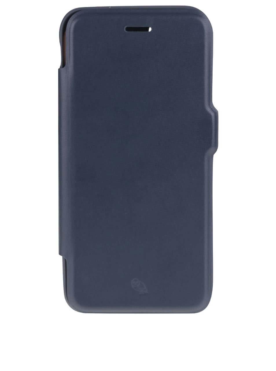 Tmavomodrý kožený kryt pre iPhone 7 s priehradkou na platobné karty Bellroy
