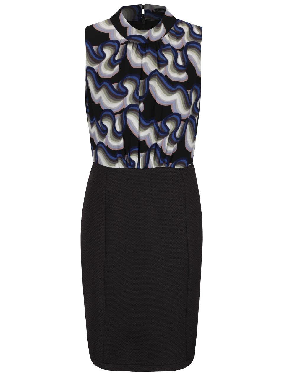 Černé šaty se vzorovaným topem Smashed Lemon