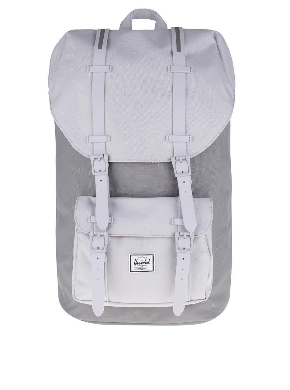 Šedý batoh s šedými popruhy Herschel Little America 25 l