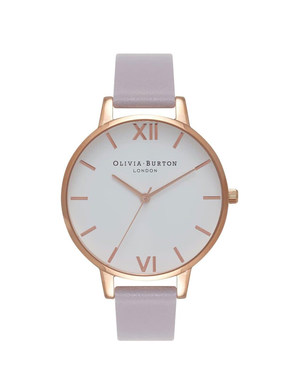 Světle fialové hodinky s bílým ciferníkem Olivia Burton