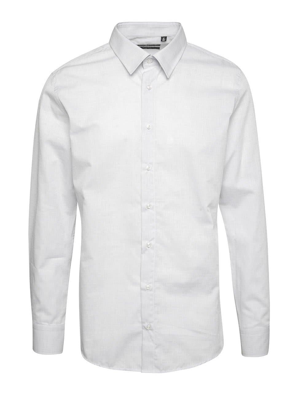 Krémová pánská slim fit košile Pietro Filipi
