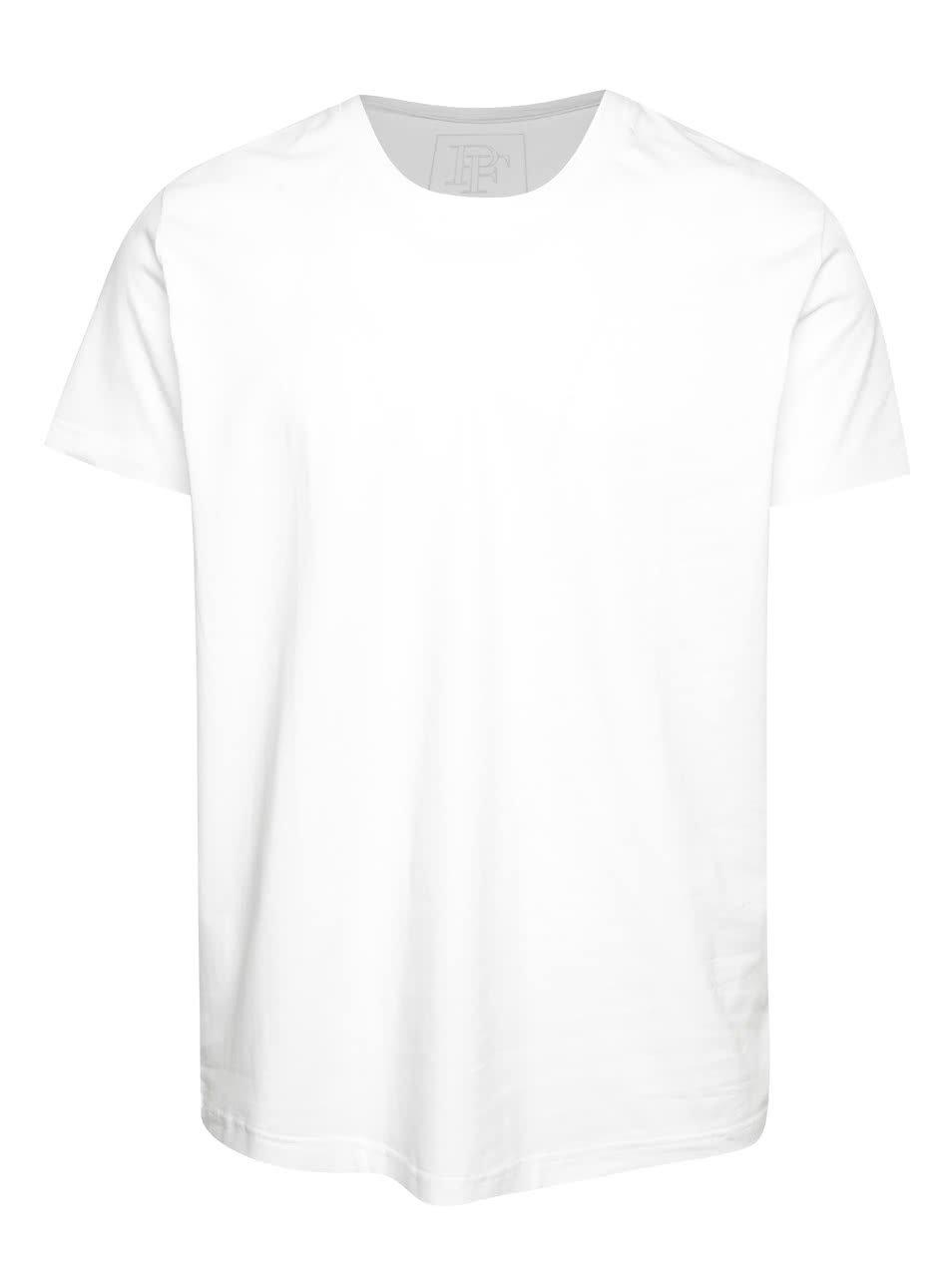 Bílé pánské triko s véčkovým výstřihem Pietro Filipi