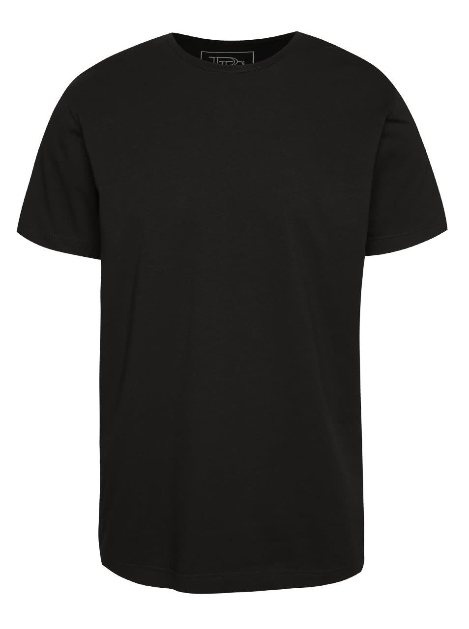 Černé pánské triko s krátkým rukávem Pietro Filipi
