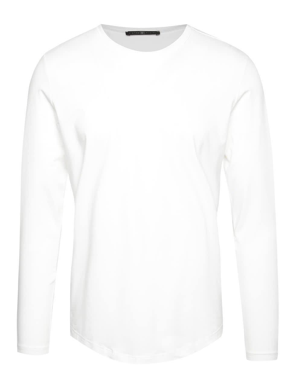 Bílé pánské triko s dlouhým rukávem Pietro Filipi