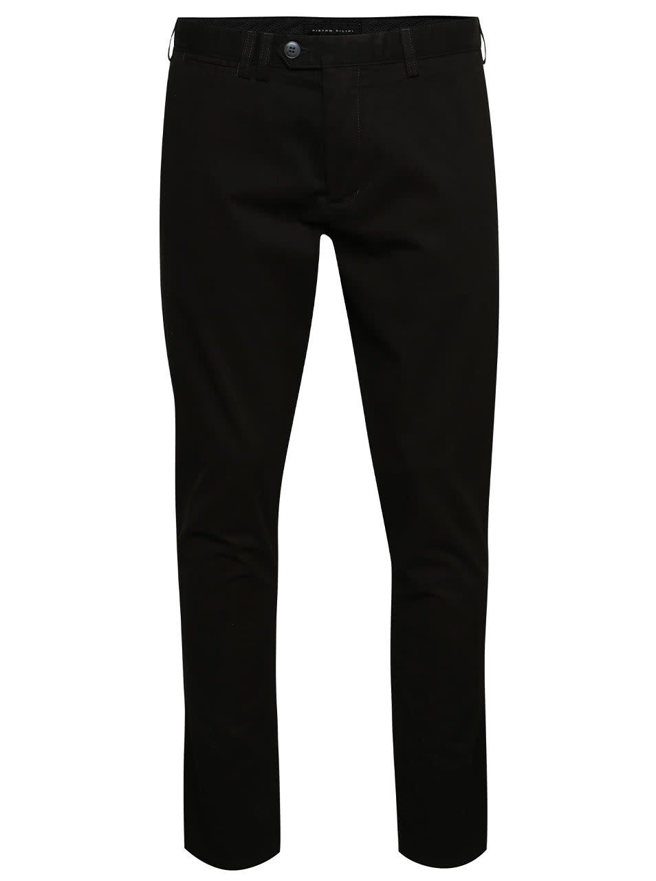 Černé pánské chino kalhoty Pietro Filipi
