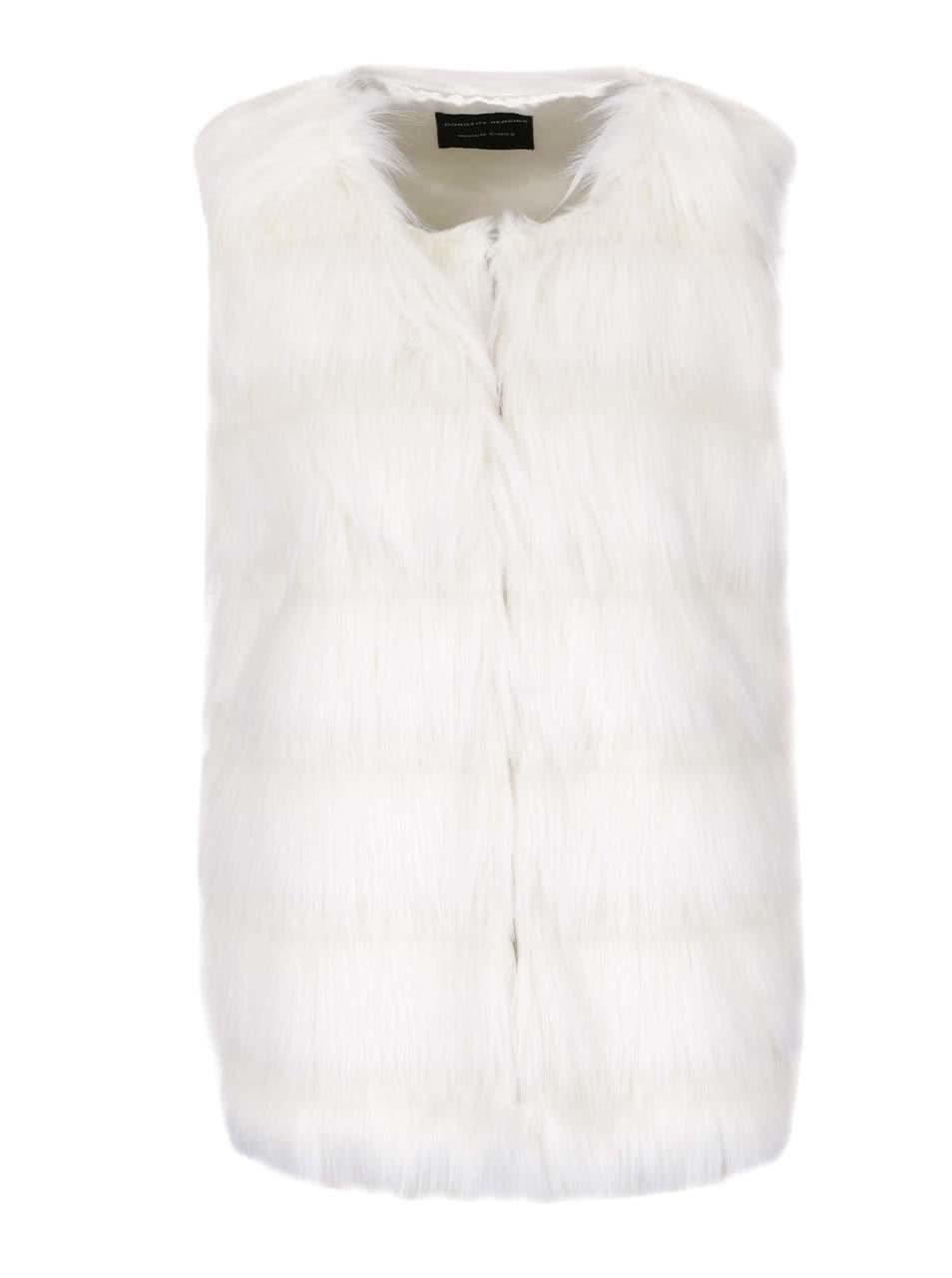 Krémová vesta z umělé kožešiny Dorothy Perkins