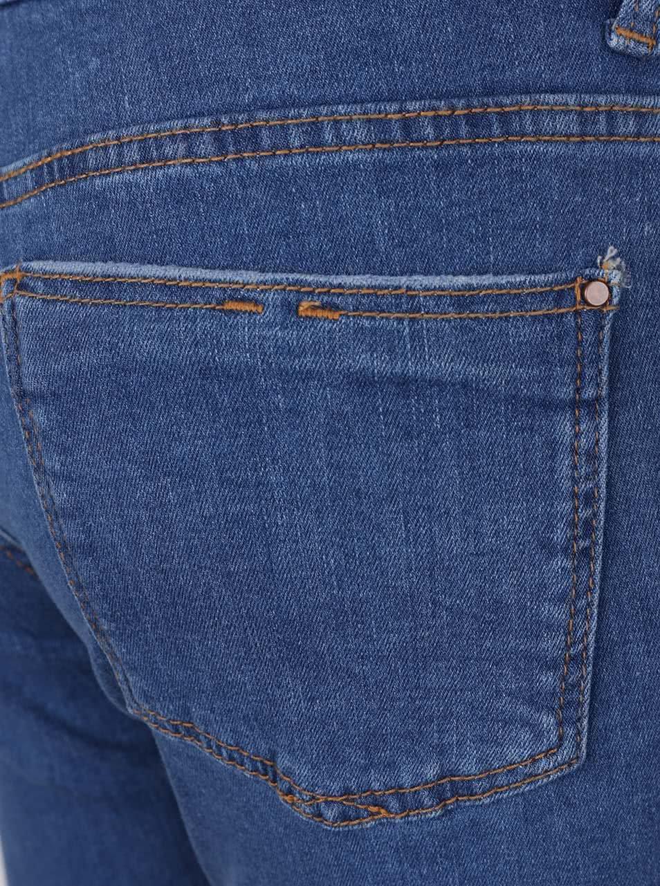 Modré džíny s vyšisovaným efektem Dorothy Perkins