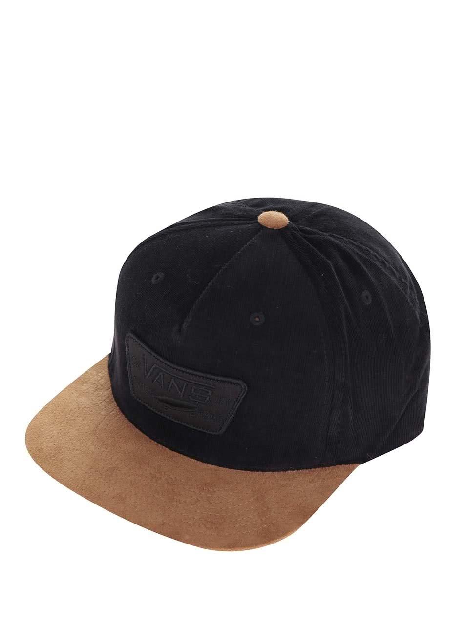 Hnědo-černá pánská kšiltovka Vans Full Patch