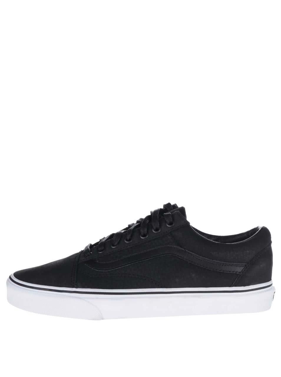 Černé pánské kožené tenisky Vans Old Skool
