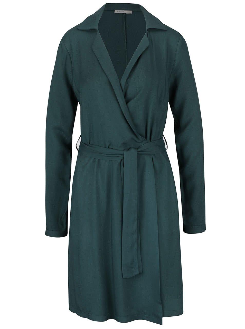 Zelené zavinovací šaty Lavand