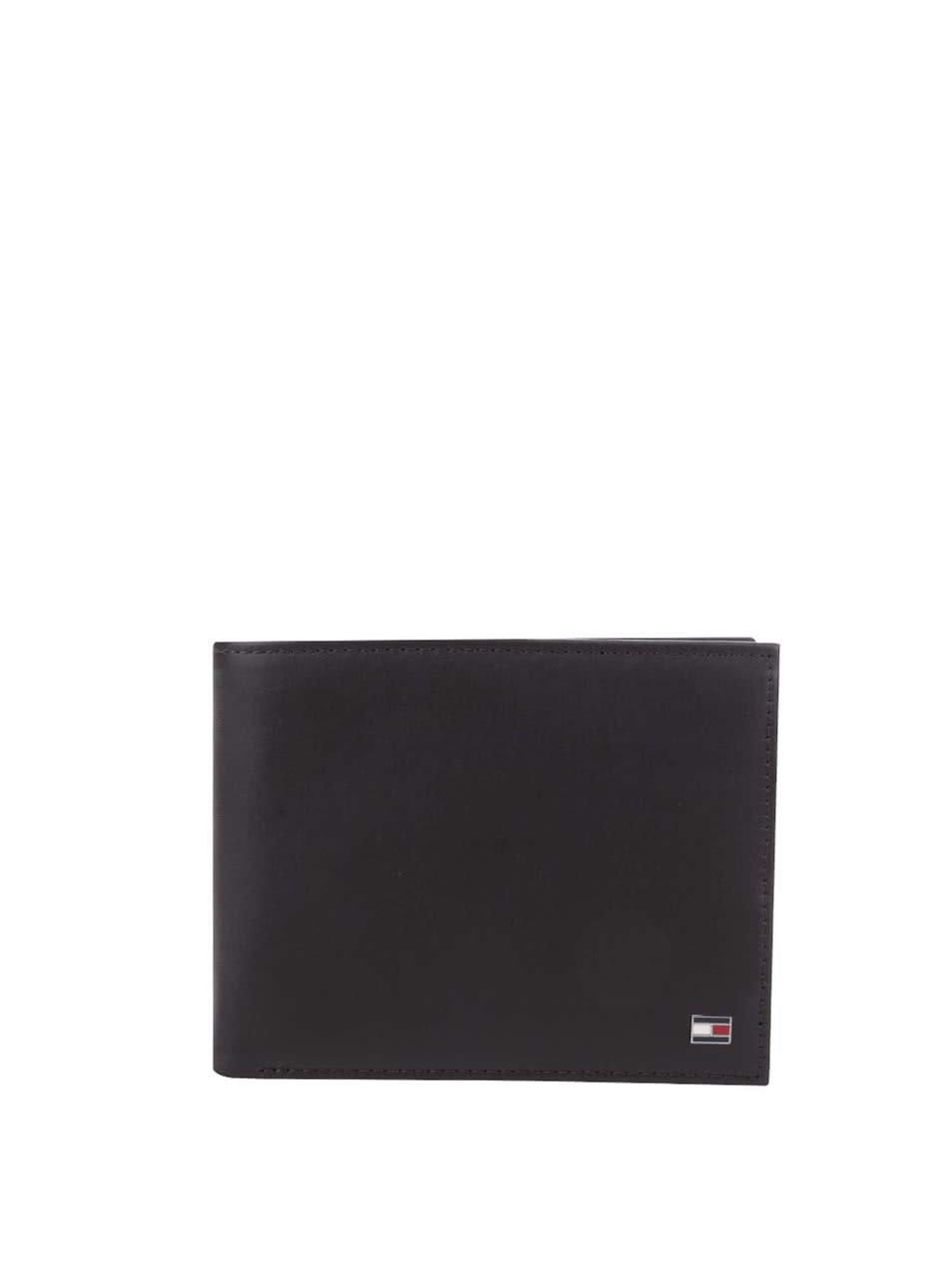 Tmavě hnědá větší pánská kožená peněženka Tommy Hilfiger