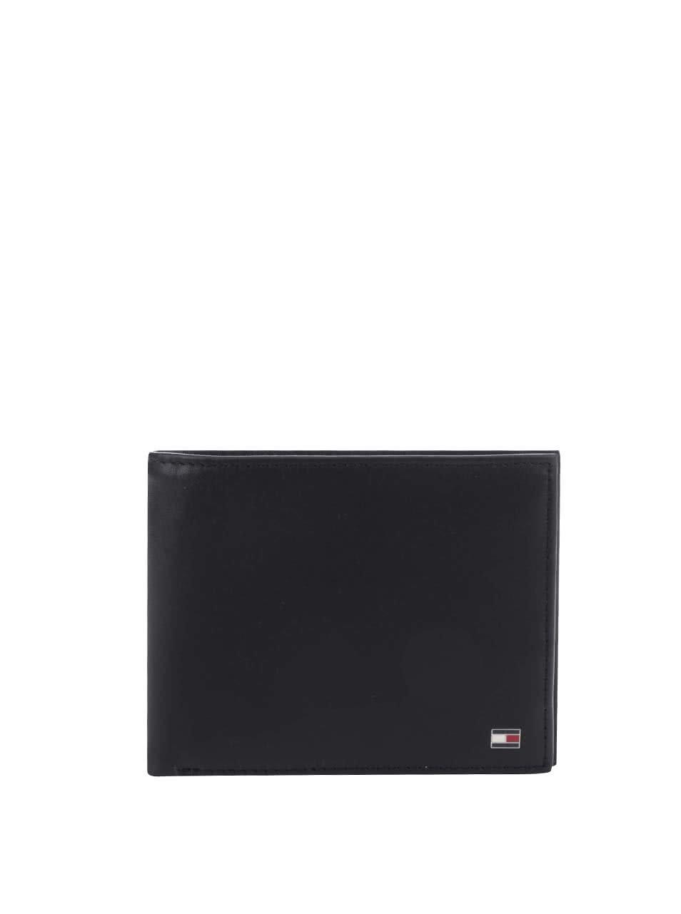 Černá větší pánská kožená peněženka Tommy Hilfiger