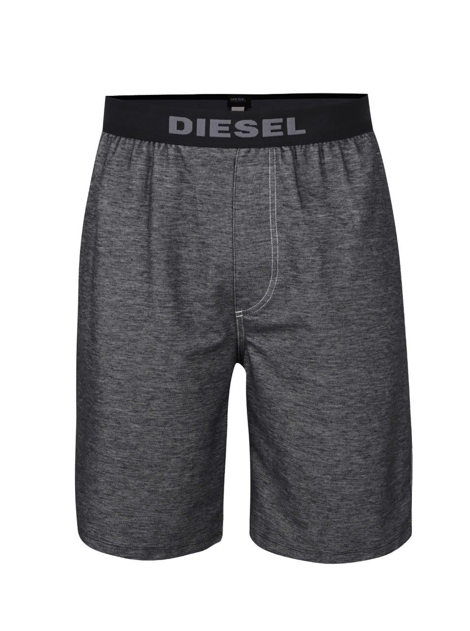 Šedé pánské kraťasy Diesel