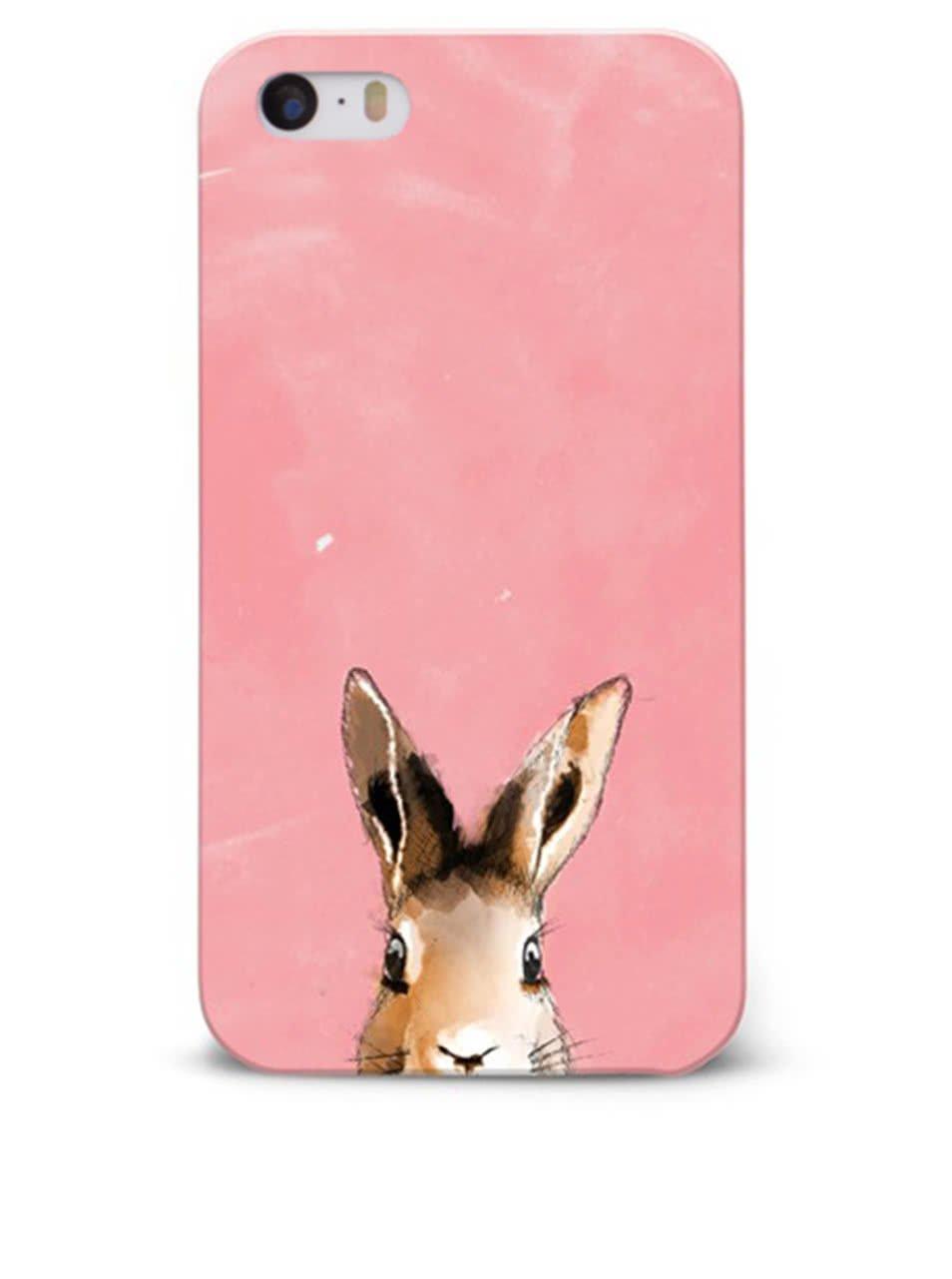 Růžový ochranný kryt na iPhone 5/5S/SE Epico Bunny